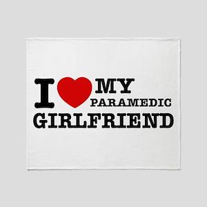Paramedic Girlfriend Throw Blanket