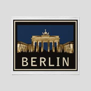 Berlin Brandenburg Gate Throw Blanket