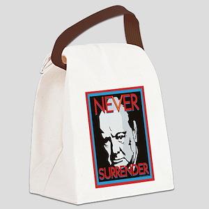 Never Surrender Canvas Lunch Bag