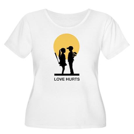 Humorous Women's Plus Size Scoop Neck T-Shirt