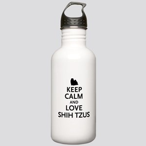 Keep Calm Shih Tzus Stainless Water Bottle 1.0L