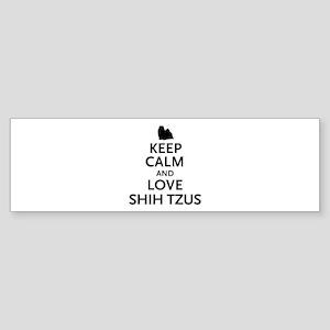 Keep Calm Shih Tzus Sticker (Bumper)