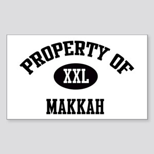 Property of Makkah Rectangle Sticker