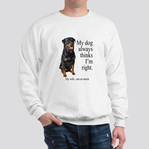 Rottie Vs Wife Sweatshirt