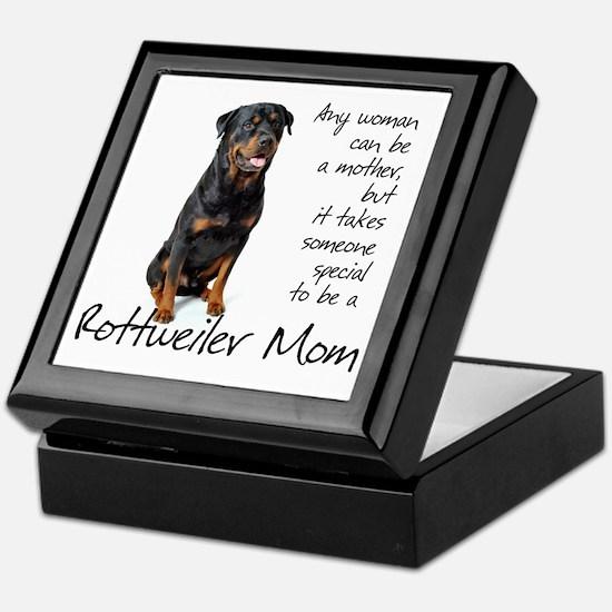 Rottweiler Mom Keepsake Box