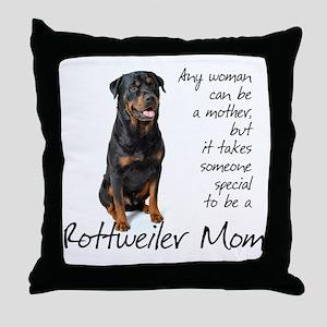 Rottweiler Mom Throw Pillow