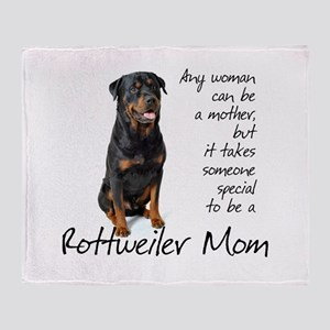 Rottweiler Mom Throw Blanket