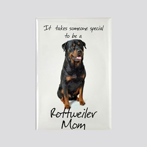Rottweiler Mom Rectangle Magnet