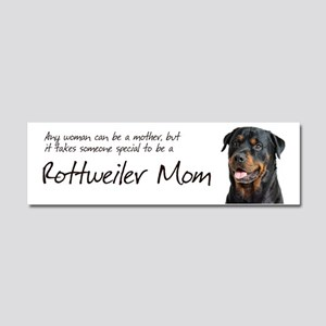 Rottweiler Mom Car Magnet 10 x 3
