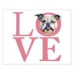 Love - Bulldog Small Poster