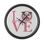 Love - Bulldog Large Wall Clock