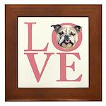 Love - Bulldog Framed Tile