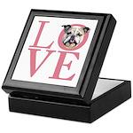 Love - Bulldog Keepsake Box