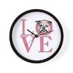 Love - Bulldog Wall Clock
