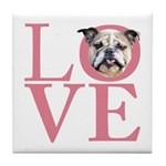 Love - Bulldog Tile Coaster