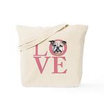 Love - Bulldog Tote Bag