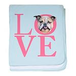 Love - Bulldog baby blanket