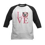 Love - Bulldog Kids Baseball Jersey