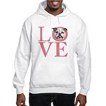 Love - Bulldog Hooded Sweatshirt