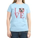 Love - Bulldog Women's Light T-Shirt