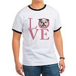 Love - Bulldog Ringer T
