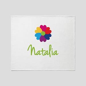 Natalia Valentine Flower Throw Blanket