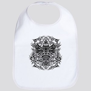 Tattoo tribal owl Baby Bib