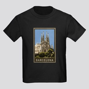 Barcelona Sagrada Familia Kids Dark T-Shirt