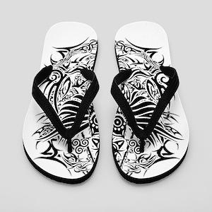 Tribal Owl Flip Flops Cafepress