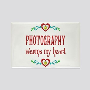 Photography Warms Hearts Rectangle Magnet
