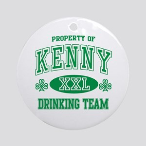 Kenny Irish Drinking Team Ornament (Round)