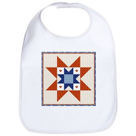 Heart Star Quilt Block Bib