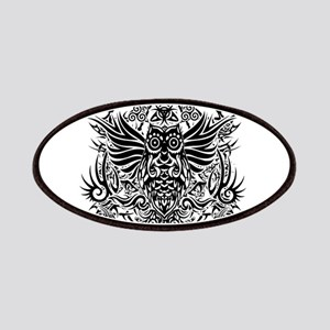 Tribal Owl Tattoo Patches Cafepress