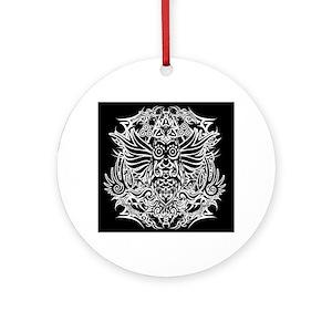 Tribal Owl Ornaments Cafepress
