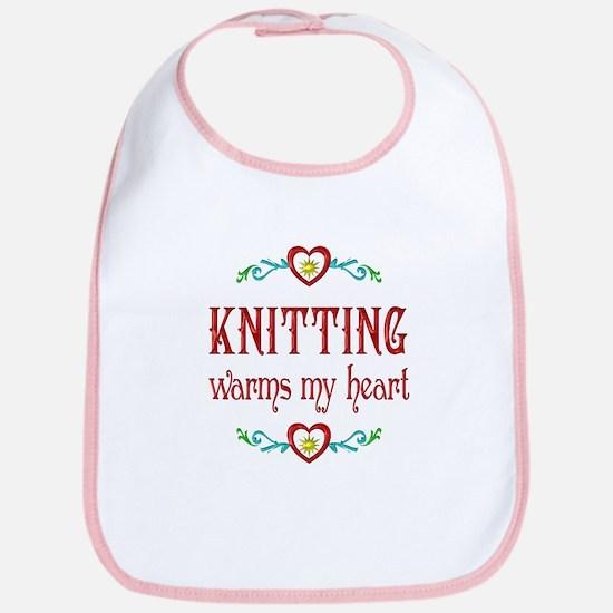 Knitting Warms My Heart Bib