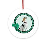 Irish Pride Foxhound Ornament (Round)