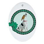Irish Pride Foxhound Ornament (Oval)