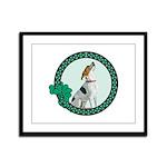 Irish Pride Foxhound Framed Panel Print