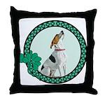 Irish Pride Foxhound Throw Pillow