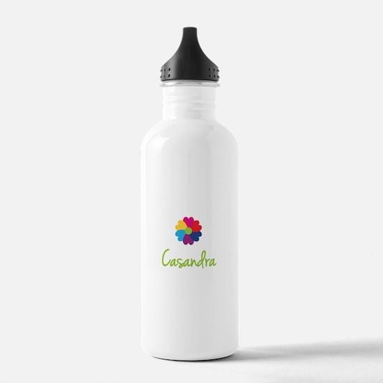 Casandra Valentine Flower Sports Water Bottle