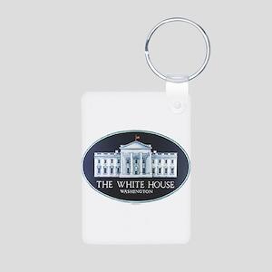 The White House Aluminum Photo Keychain