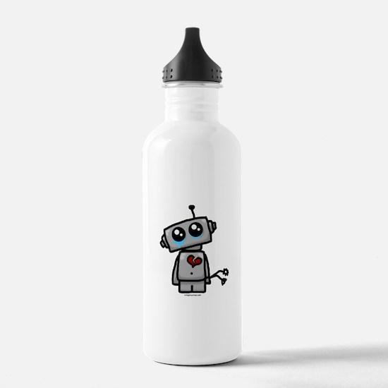love sucks heartbreak robot Water Bottle