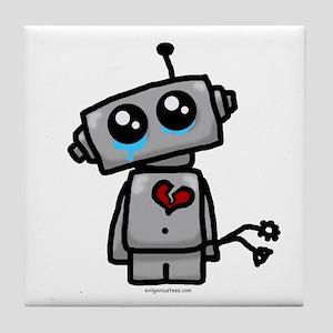 love sucks heartbreak robot Tile Coaster