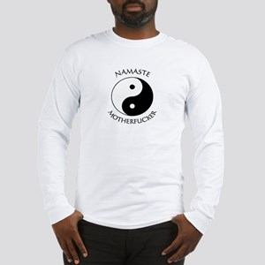 Namaste Motherfucker 3.pptx Long Sleeve T-Shirt