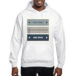 One Man, One Woman, One Love Hooded Sweatshirt