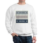 One Man, One Woman, One Love Sweatshirt