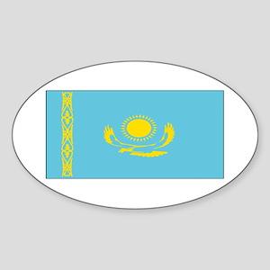 Borat Country Kazakhstan Flag Oval Sticker