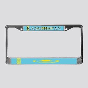 Borat Country Kazakhstan Flag License Plate Frame