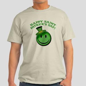 St. Patrick's Day Happy Face Light T-Shirt