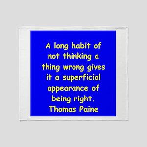 thomas paine Throw Blanket